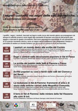 Locandina conferenze Predazzo