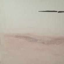 acrilico legno e terracotta su tela 100x80cm -voli diurni